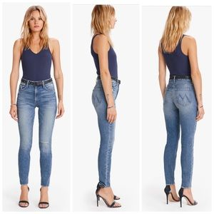 MOTHER THE HIGH WAISTED LOOKER ANKLE POPISM JEANS